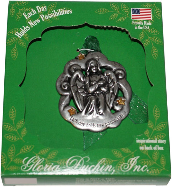 Each Day Holds New Possibilities Angel Tree Ornament Gloria Duchin Made in USA