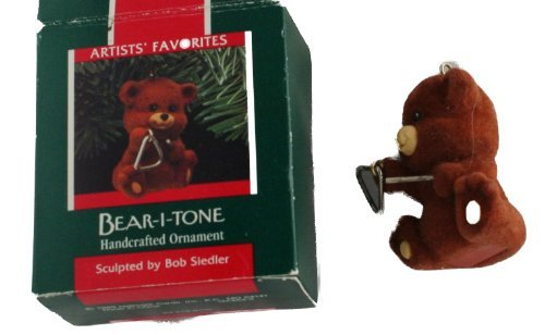 Hallmark Keepsake Bear-I-Tone Christmas Ornament 1989