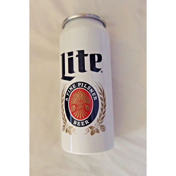 "Used Miller Lite Fine Pilsner Collector's Aluminum Beer Can Cup 6 5/8"" Tall"