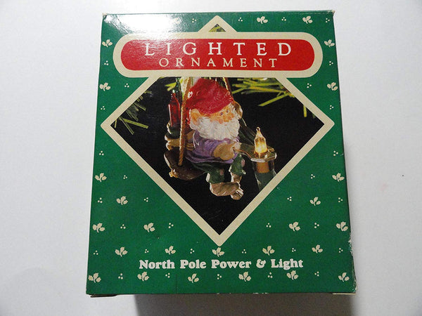 Hallmark 1987 North Pole Power & Light Lighted Christmas Ornament 627XPR9333