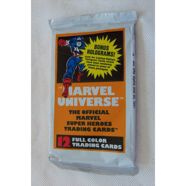 1 Pack of 1990 MARVEL UNIVERSE 12 Trading Cards by Impel Marketing, Inc