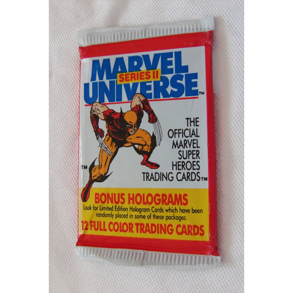1 Pack 1991 MARVEL UNIVERSE Series II 12 Trading Cards by Impel Marketing, Inc
