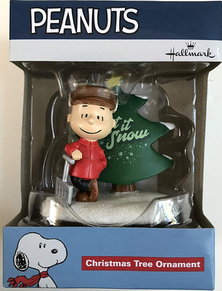 Peanuts Charlie Brown Let it Snow Christmas Tree Ornament by Hallmark