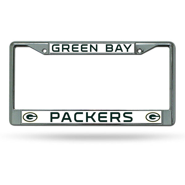 NFL Green Bay Packers Chrome License Plate Frame by Rico Industries