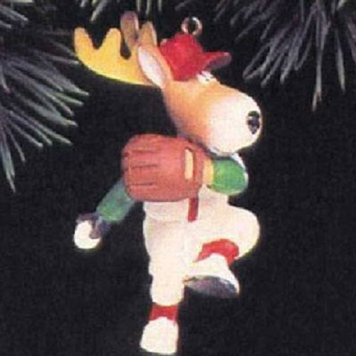Hallmark 1992 Reindeer Champs Donder Christmas Tree Ornament QX528-4