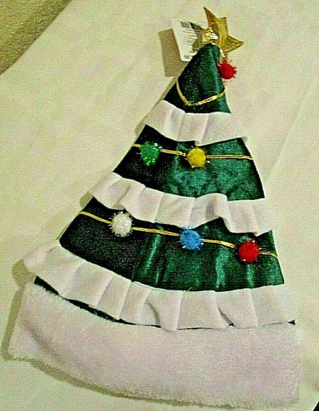 Christmas Tree Santa Hat with Gold Star 17″ Tall by Merry Brite