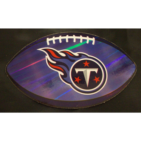 "Lot of 19 NFL Tennessee Titans Logo On Prismatic 4.25"" Oval Paper Sticker #31"