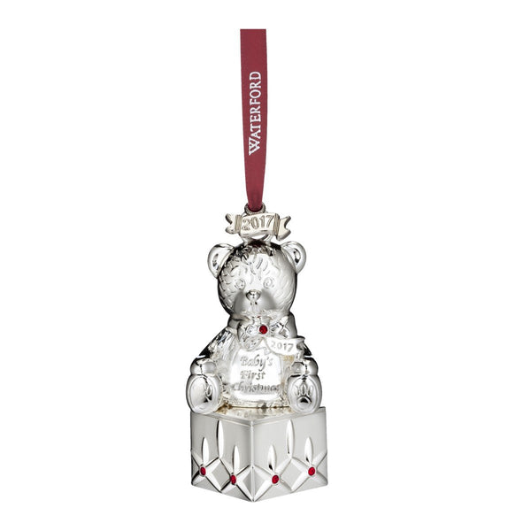 Waterford 2017 1st Christmas Silver Plated Christmas Tree Ornament