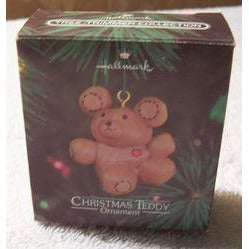 Hallmark 1980 Tree-Trimmer Christmas Teddy Christmas Ornament