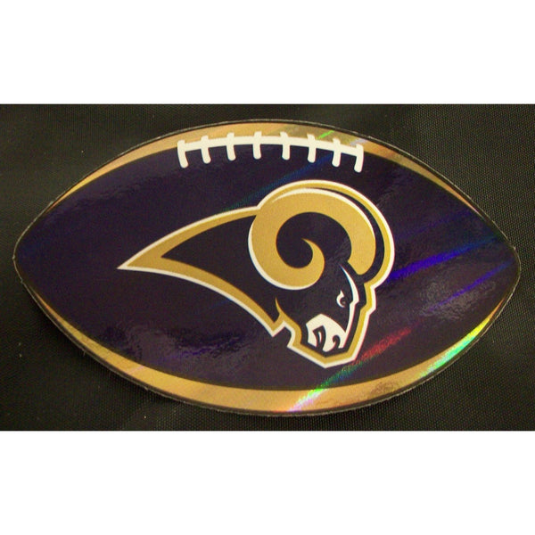 "NFL Los Angeles Rams Logo On Prismatic 4.25"" Oval Paper Sticker #29"