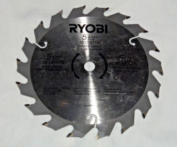 "New Ryobi 18v 5.5"" Carbide Tipped Circular Saw Blade PN 4990001"