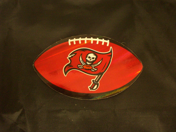 nfl tampa bay buccaneers logo on prismatic 4 25 oval paper sticker 3 amazing deals inc amazing deals inc