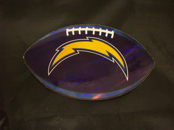 "NFL Los Angeles Chargers Logo On Prismatic 4 3/8"" Oval Paper Sticker #26"