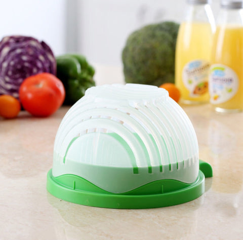 Fruit and Vegetable Cutter Bowl Salad Maker Tools - MyShimi.com