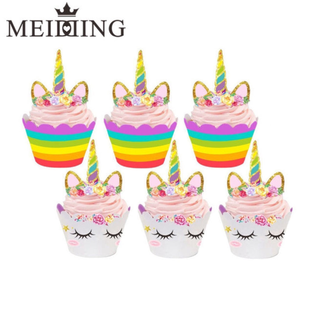 Cupcake Wrappers and Cake Toppers for Birthday Party Cake Decor - MyShimi.com