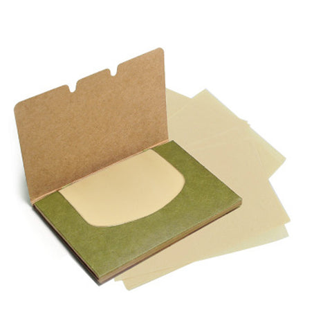 Makeup Cleansing Oil Absorbing Blotting Paper in Green Tea Scent - MyShimi.com