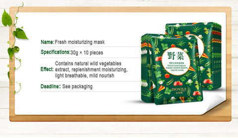 Vegetable Concentrate Facial Mask with Hyaluronic Acid - MyShimi.com