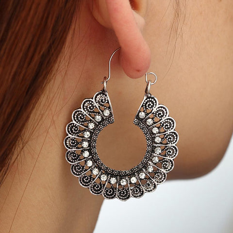Swirl Gypsy  Vintage Earrings For Women
