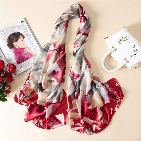 All Season Elegant Silk Printed Scarf - MyShimi.com