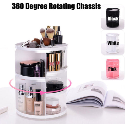 360-degree Rotating Makeup Organizer - MyShimi.com