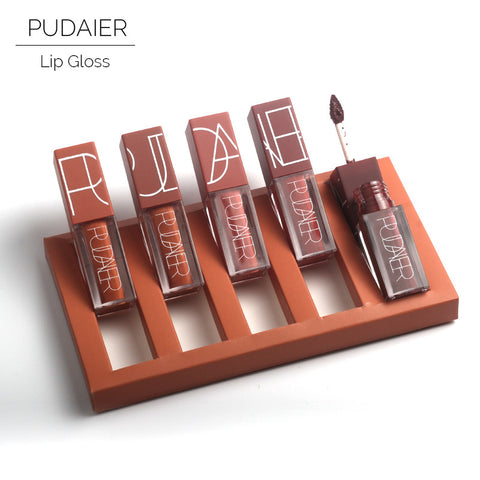 5-Piece Matte Liquid Lipstick Set in Nude Brown Chocolate Rose Lipstick Kit - MyShimi.com