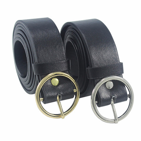 Unisex Round Metal Circle Belts