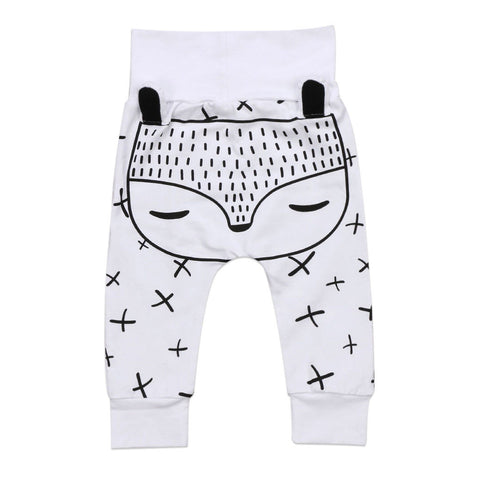 Unisex 3D Fox Harem Pants for Baby