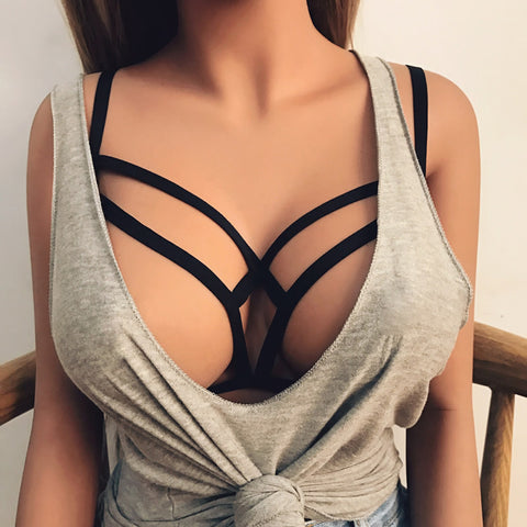 Scallop Cage Harness Bra Suspension - MyShimi.com