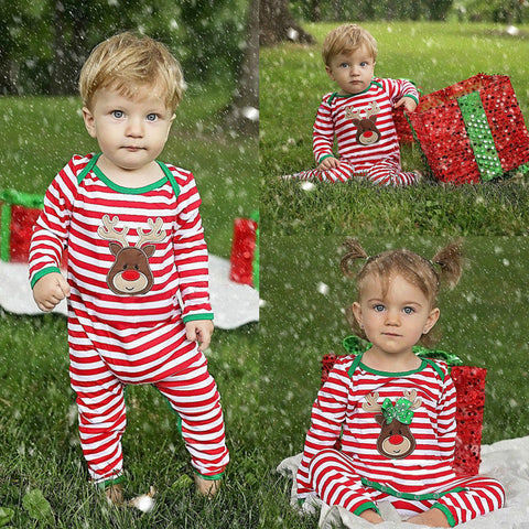 Striped Romper Christmas Costume for Babies - MyShimi.com