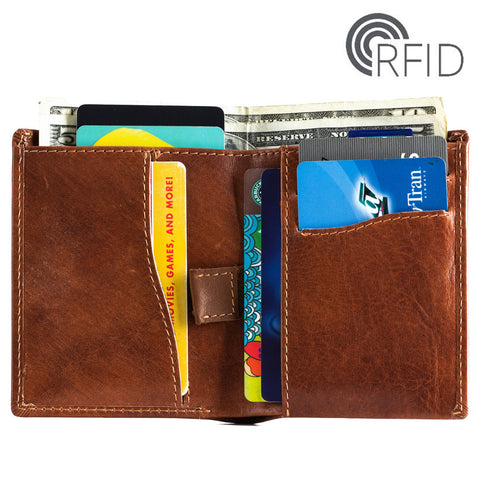 Minimalist Ultra Slim Bifold RFID Wallet for Men - MyShimi.com