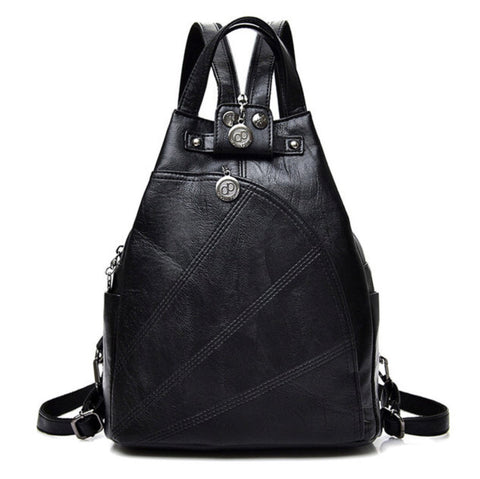 Premium & Fashionable Artificial Leather Backpack - MyShimi.com