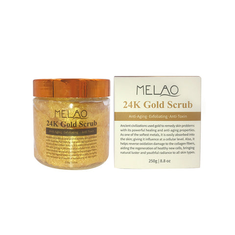 24K Gold Ancient Anti Aging Face & Body Scrub Formula - MyShimi.com