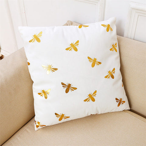 Ultra Soft Cotton Pillowcase in Bronze and Gold Prints
