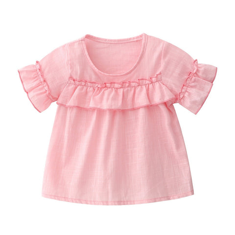 Pink Summer Tops  Paired with Jeans Clothing Set for Babies - MyShimi.com