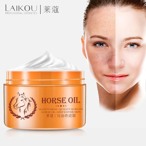 Horse Oil Facial Skin Repair Treatment Freckle Removal - MyShimi.com