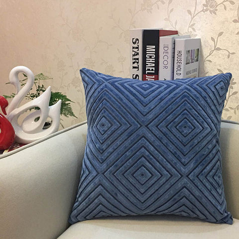 Geometric Chenille Decorative Pillowcase - MyShimi.com