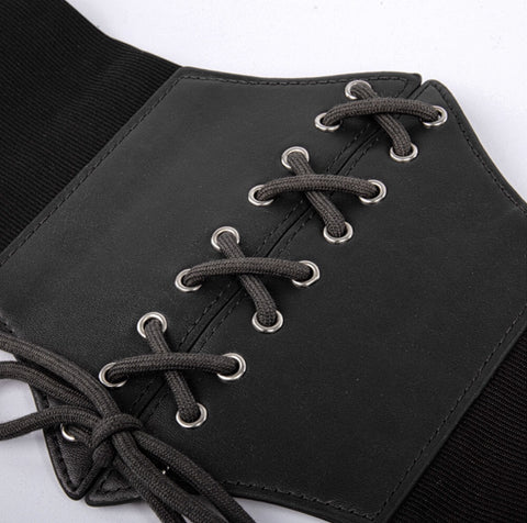 Plus Size Fashionable Artificial Leather Corset Belt for Women