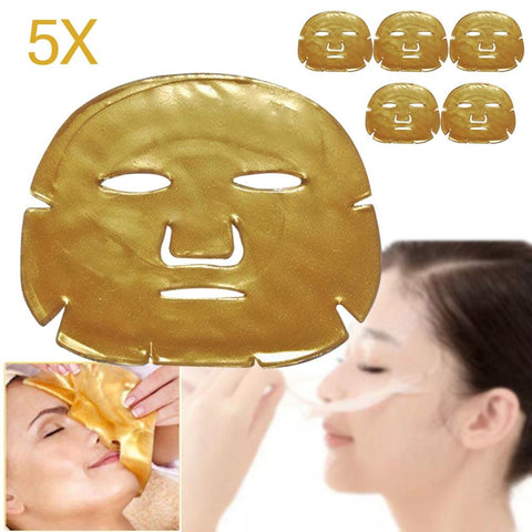 5-Piece Gold Collagen Treatment Anti-Aging Facial Mask - MyShimi.com