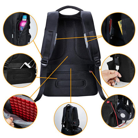 15 Inch Waterproof Laptop Backpack For Men with Charging Technology - MyShimi.com
