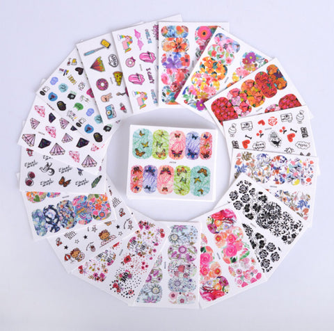 Stunning Nail Art Sticker Template Set - MyShimi.com