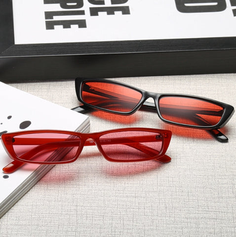 Vintage Rectangle Small Frame  Sunglasses for Women