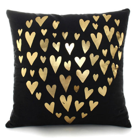 Decorative Bronzing Pillow Cases Printed in Gold Black and White - MyShimi.com