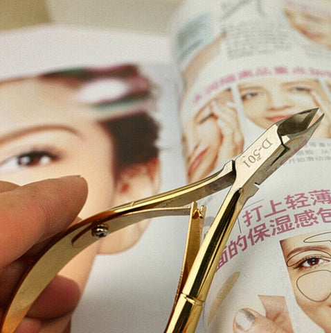 High Quality Nail  Cuticle Scissors in Elegant Gold - MyShimi.com