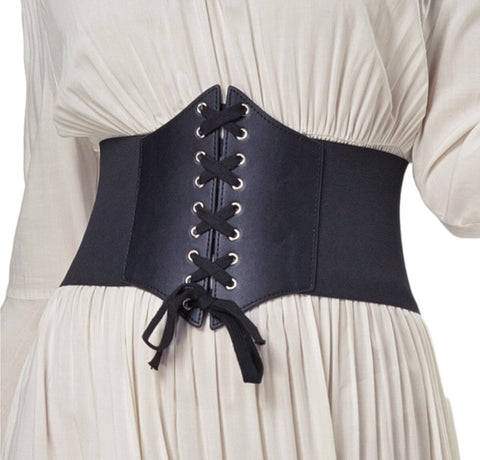Plus Size Fashionable Artificial Leather Corset Belt for Women - MyShimi.com