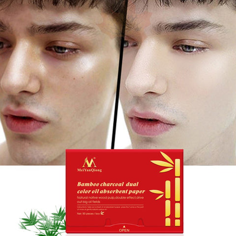 Oil Absorbing Bamboo Charcoal Whitening Blotting Paper