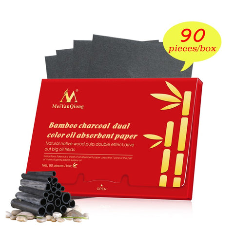 Oil Absorbing Bamboo Charcoal Whitening Blotting Paper - MyShimi.com