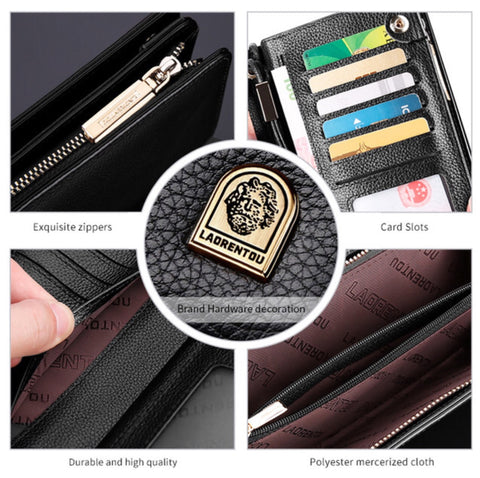 Genuine Leather Clutch Long Purse for Men - MyShimi.com