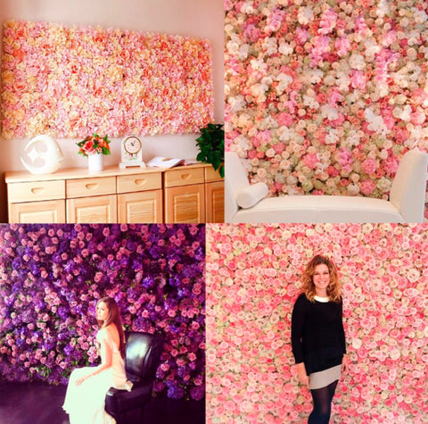 Artificial Flowers Background Wall Decoration - MyShimi.com