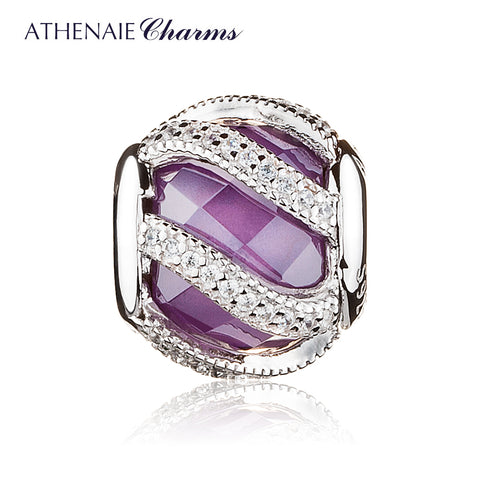 Radiance Purple Charm Beads Sterling Silver