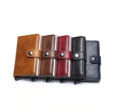 Premium Quality  Leather Card Holder with  Anti-Theft RFID Technology